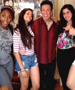 Rehearsing w/ X Factor's Fifth Harmony