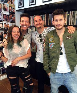 With Evaluna, Ricky & Mau Montaner