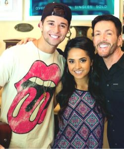 Rehearsing with Becky G and Jake Miller