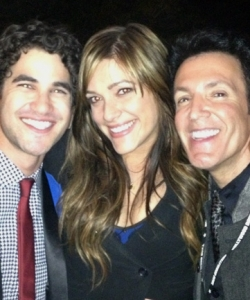 With Darren Criss and Mia Elan at the Hollywood Bowl