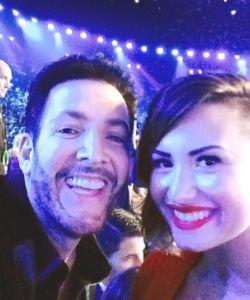 With Demi Lovato @the VMA's