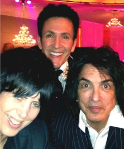 With Paul Stanley and Diane