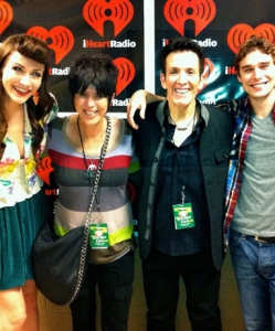 With Amy and Nick from KARMIN and Diane Warren