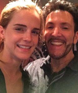 With Emma Watson