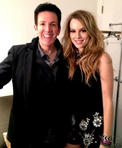 Eric and Bridgit Mendler backstage at X Factor