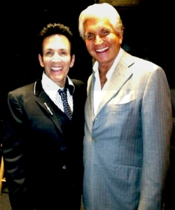 With George Hamilton opening night of La Cage