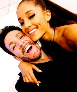 With Ariana Grande