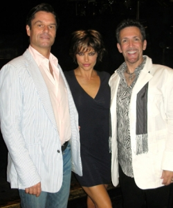 With Harry Hamlin & Lisa Rina