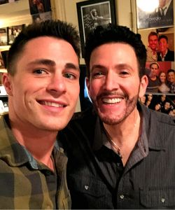 With Colton Haynes