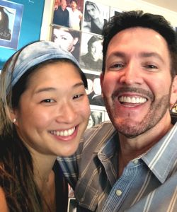 With Jenna Ushkowitz from GLEE