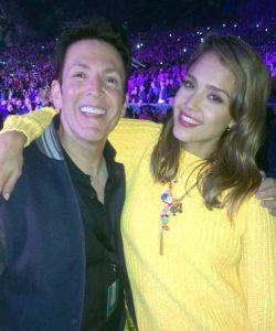 with Jessica Alba