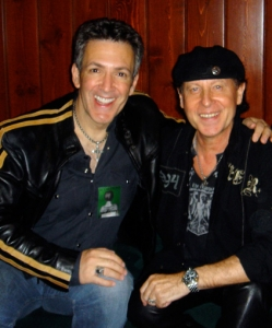 Recording with Klaus Meine of the SCORPIANS