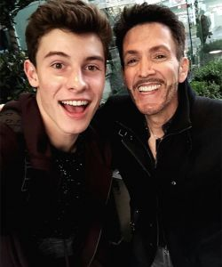 With Shawn Mendes