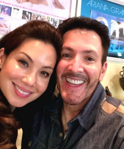 "With Natalie Mendoza practicing for ""Imelda"""