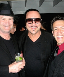With Micky Dolenz and Desmond Child