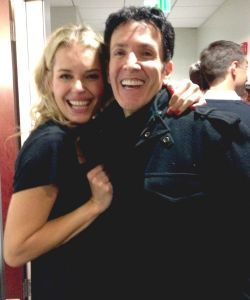 Backstage at the Hollywood Bowl with Rebecca Romijn