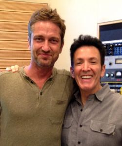 Recording with Gerard Butler