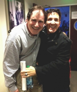 With Richard Kind backstage at the Hollywood Bowl