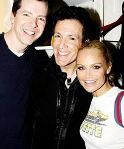 With Sean Hayes and Kristin Chenoweth at the recording sessions of PROMISES, PROMISES