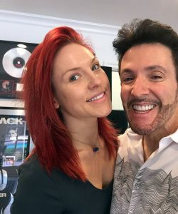 With Sharna Burgess
