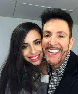 With Sofia Carson