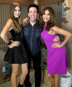 With Teri Hatcher and her daughter at the last party on Wisteria Lane