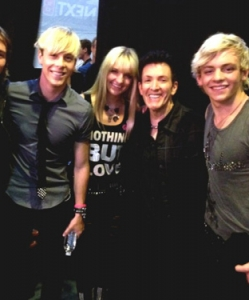 With R5 after they performed at Universal