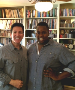 With Alex Newell of Glee