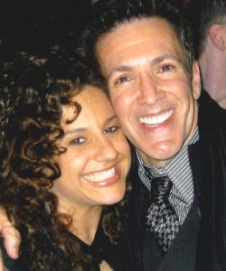 With Marissa Jaret Winokur at the last performance of HAIRSPRAY