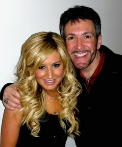 With Ashley Tisdale backstage at Regis and Kelly