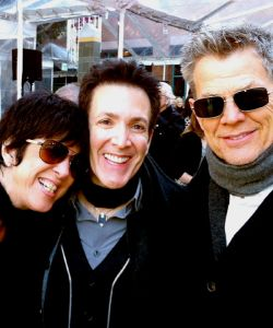 With David Foster and Diane Warren at the launch of OWN NETWORK