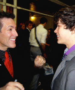 with Graham Phillips Opening Night of 13 The Musical on Broadway