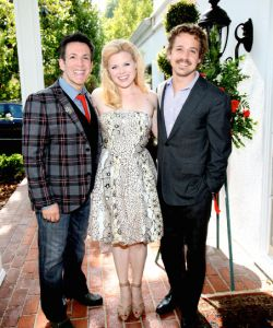 With Megan Hilty and TR Knight at the FESTIVAL FOR NEW AMERICAN MUSICALS at my house