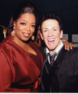 With Oprah Winfrey backstage at her post Oscar show